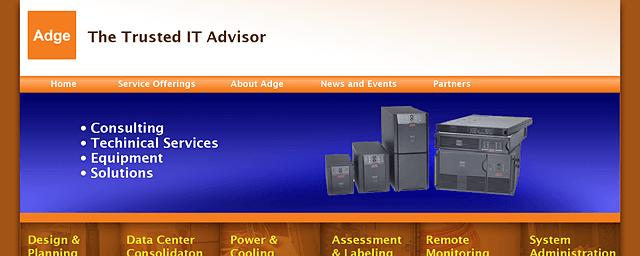 Adge homepage design