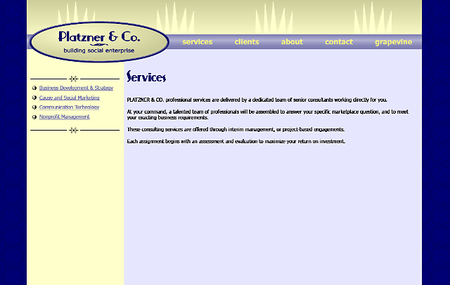 Content page layout